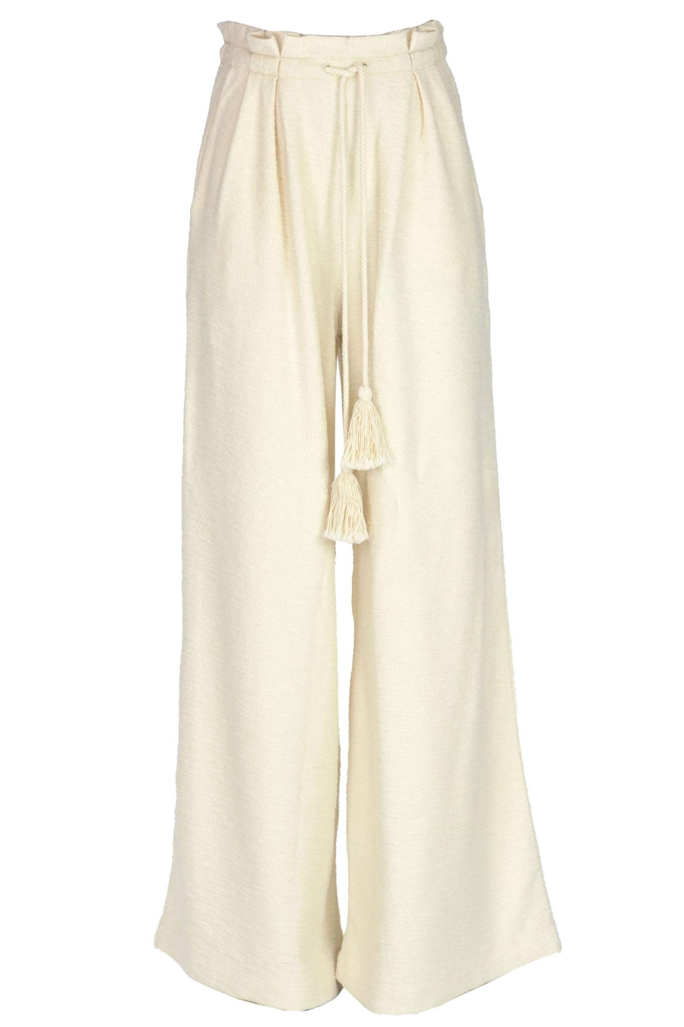 Ulla Johnson Oversized Cotton Trousers In Cream