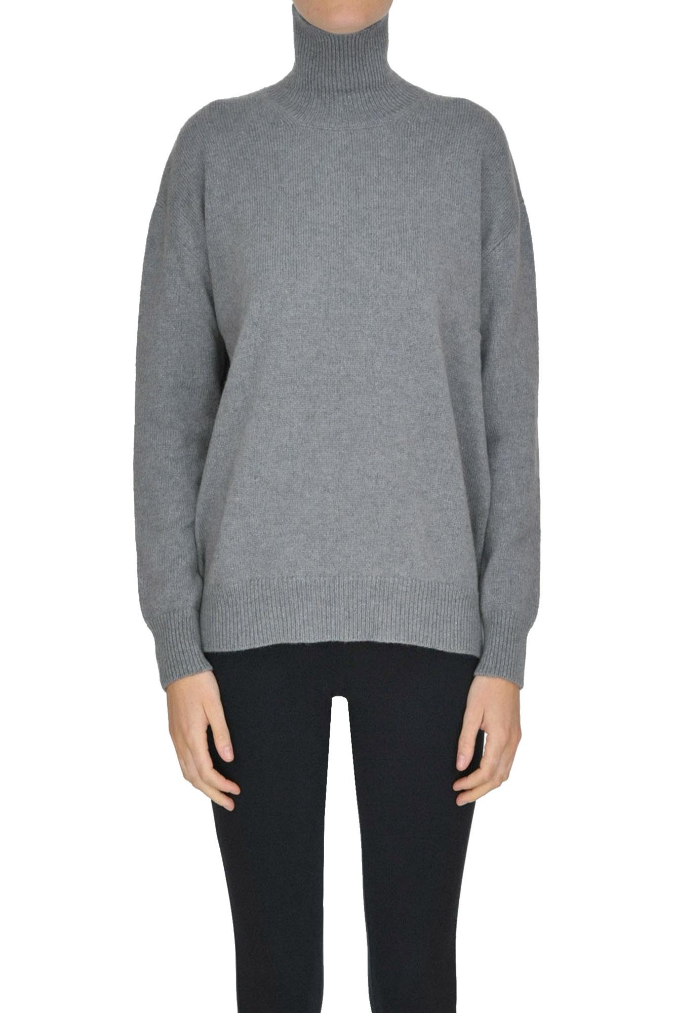 ALYKI Turtleneck Cashmere Pullover in Grey