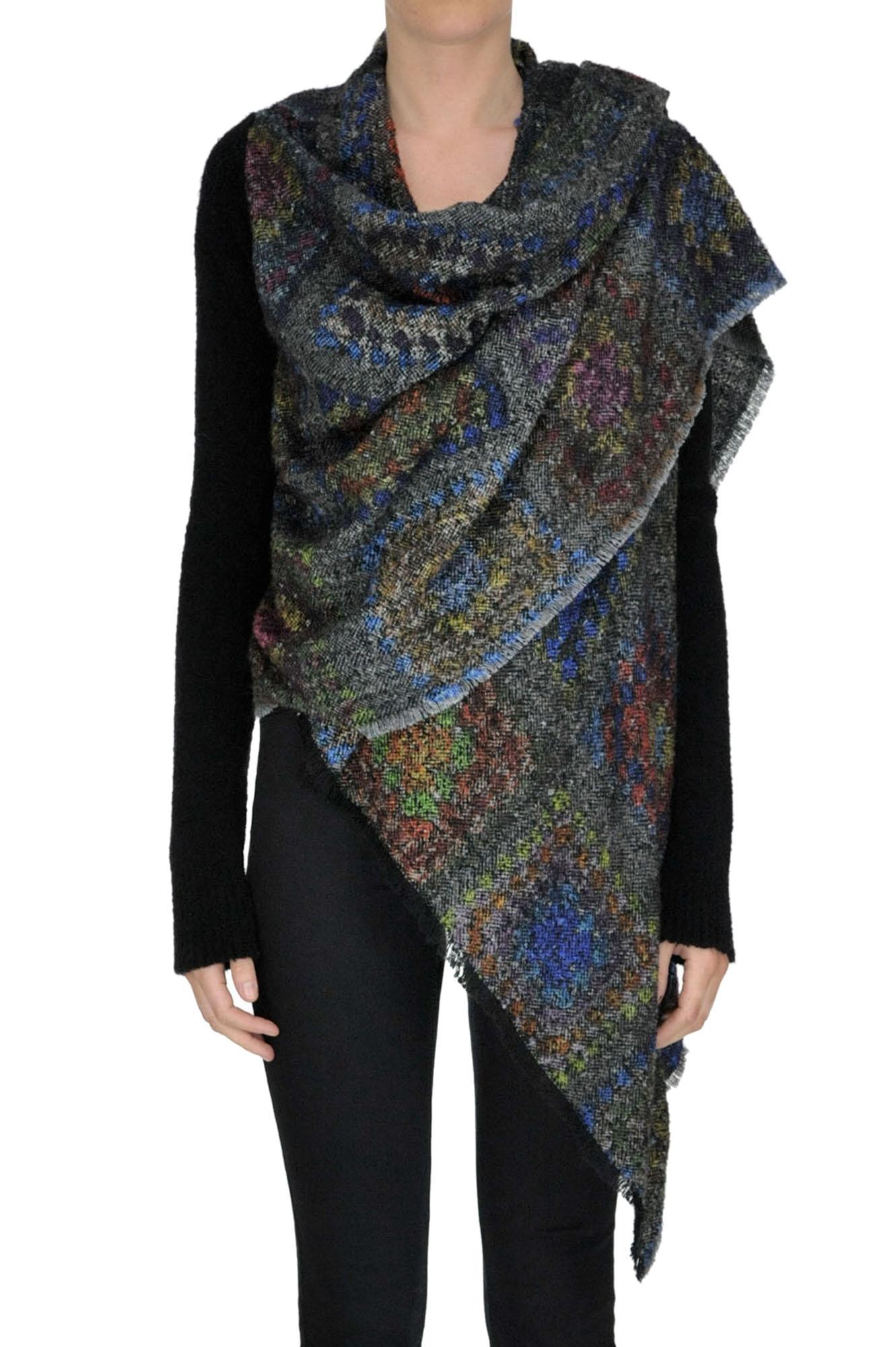 MONICA SARTI Texrtured Knit Cardigan in Multicoloured