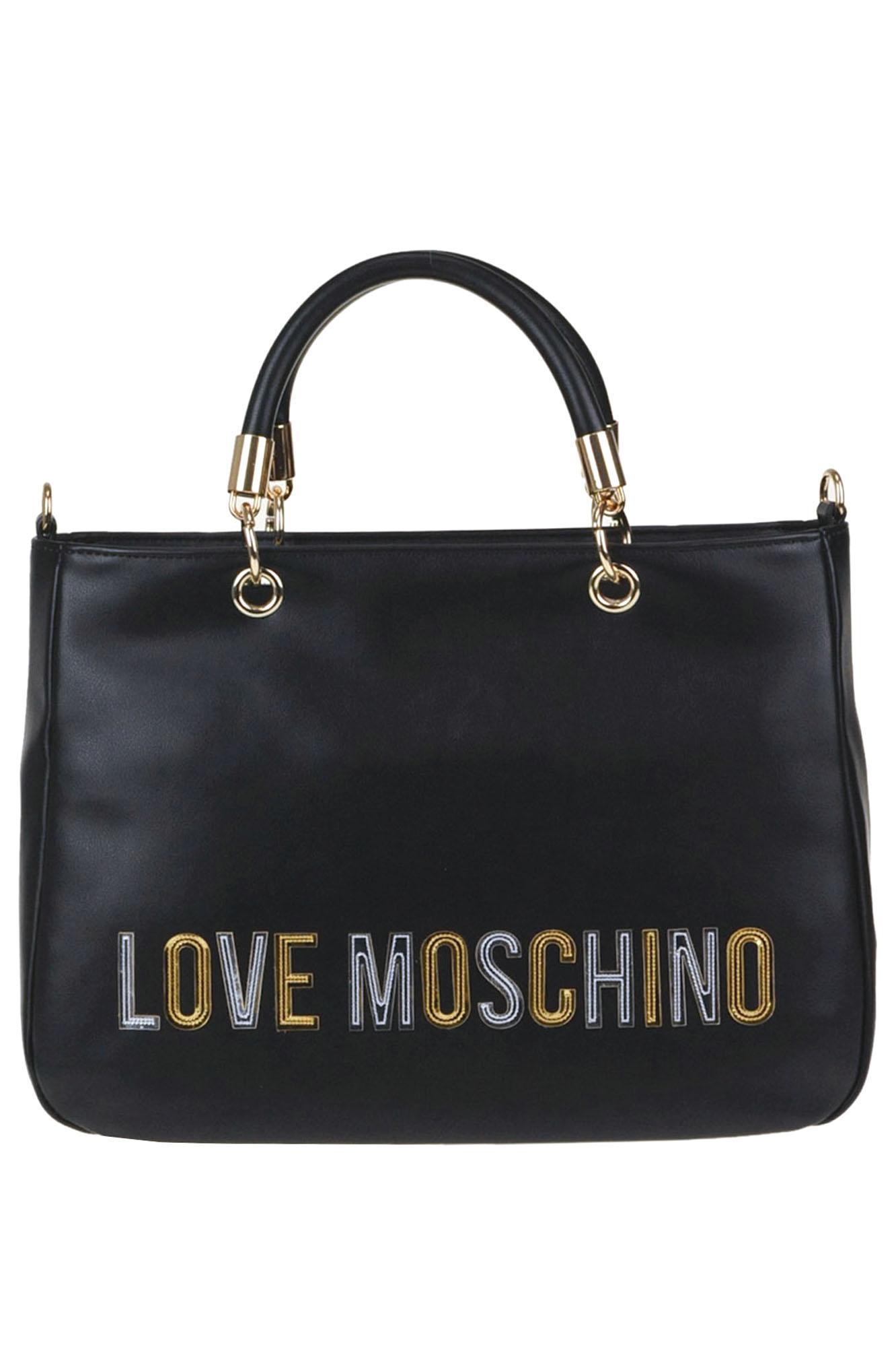 Love Moschino DESIGNER LOGO ECO-LEATHER BAG