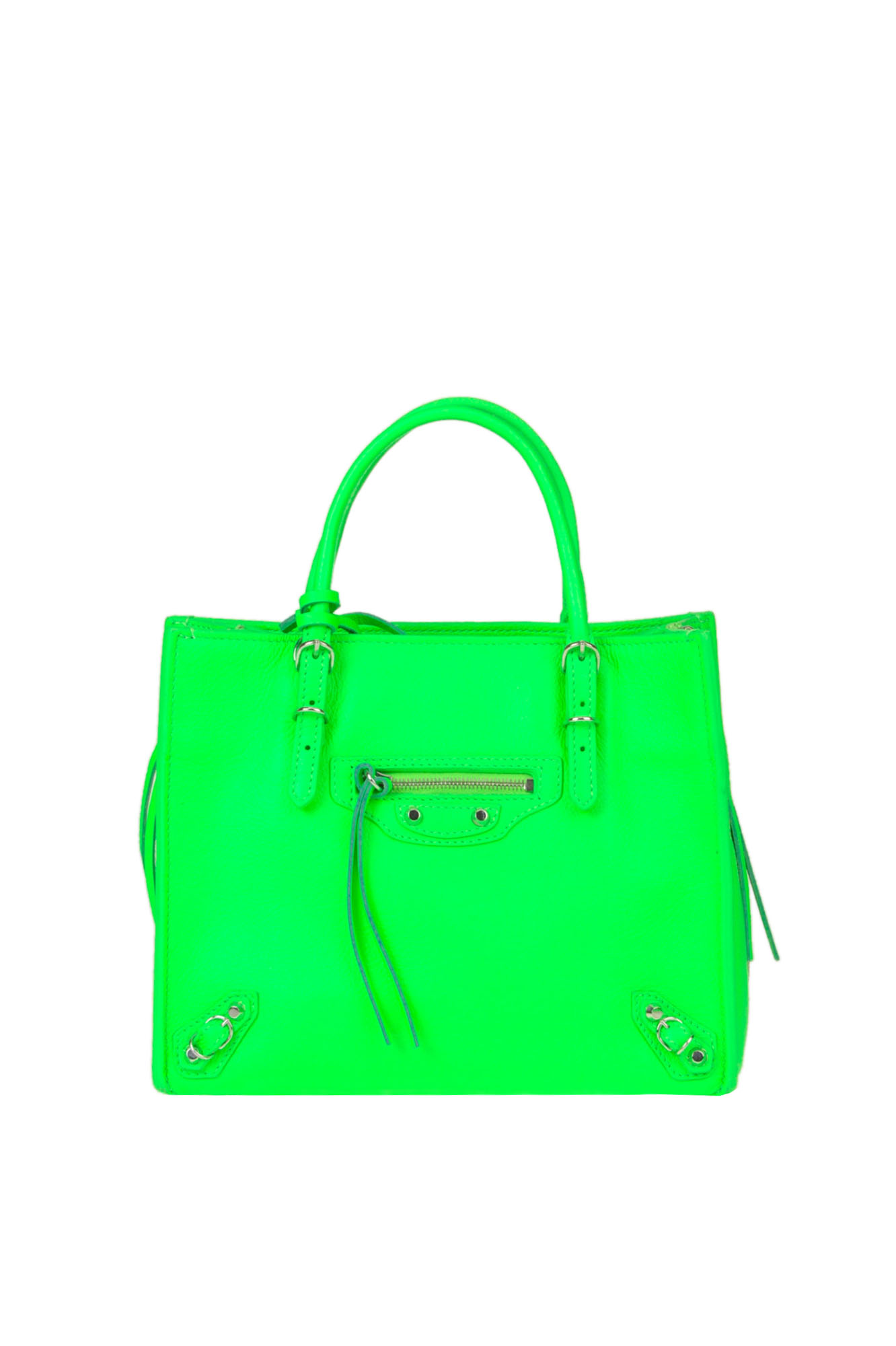 8ce49c08efe4 Balenciaga  Papier A4 Mini  Fluo Leather Bag In Light Green