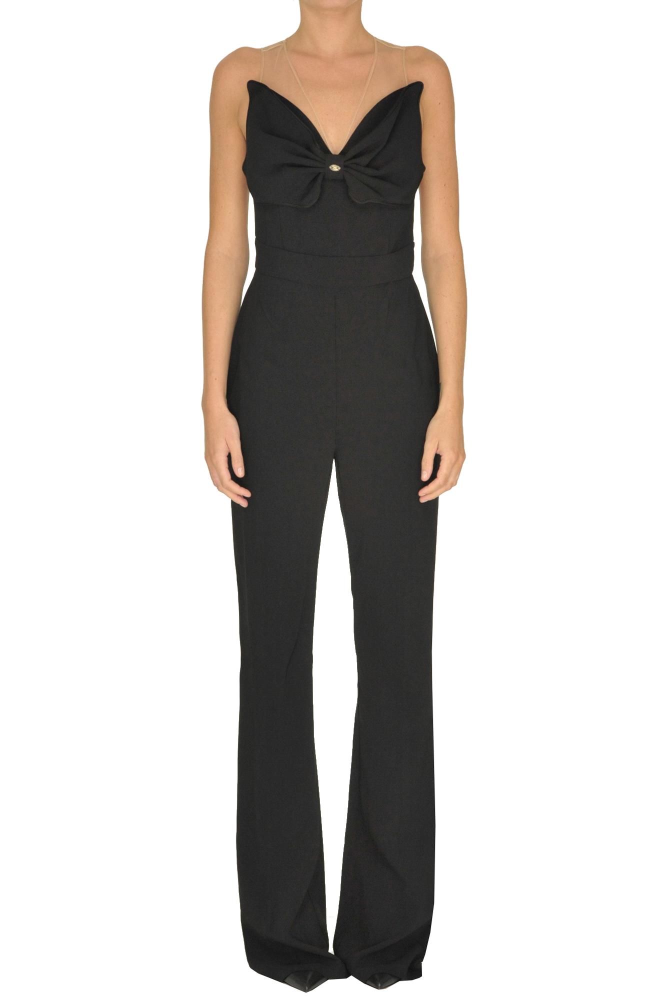 b6848df83550 Elisabetta Franchi Maxi bow jumpsuit - Buy online on Glamest.com ...