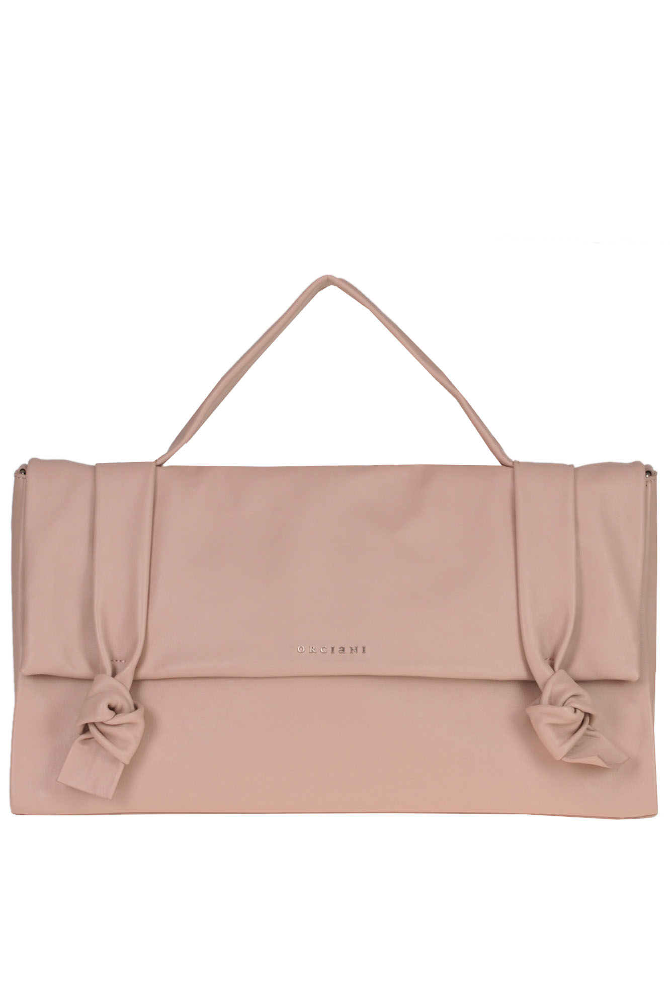 Orciani 'Bella' Leather Bag In Cipria